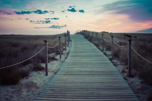 Beach Sunset Pathway